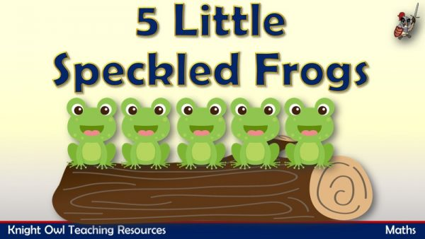 15 Little Speckled Frog - Taking Away 1 Subtraction