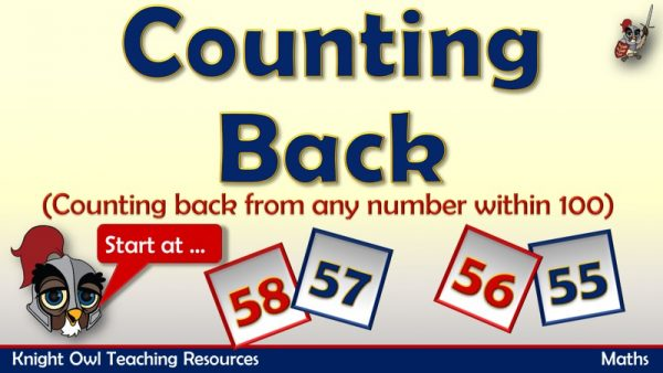 1Counting Back from any number within 100