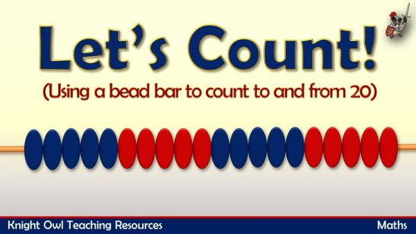 1Counting to and from 20 using a bead bar