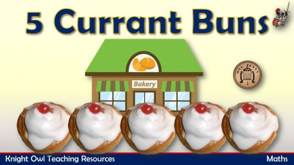 1Five Currant Buns - Taking Away 1 Subtraction