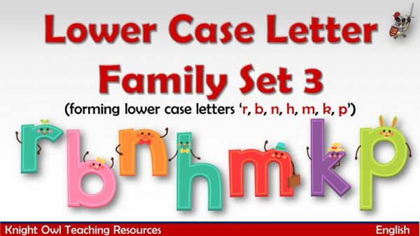 1Lower Case Letter Family - Set 3 (r, b,n, h, m, k, p)