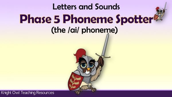 1Phase 5 Phoneme Spotter - the 'ai' phoneme