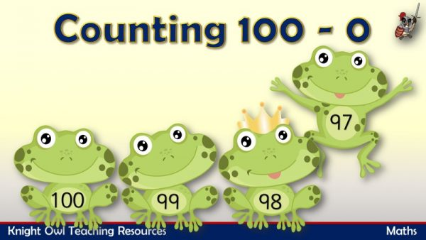 Counting 100 - 0 1