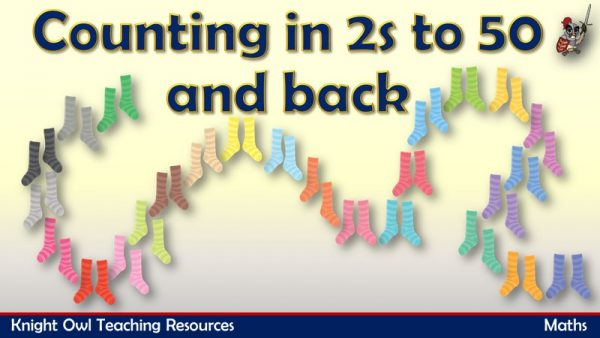 Counting in 2s to 50 and back (socks)1