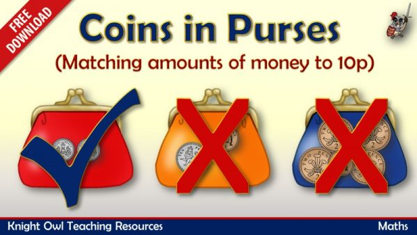 FreebieCoins in Purses - matching amounts of money to10p