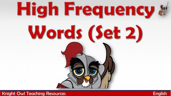 High Frequency Words Set 2 1