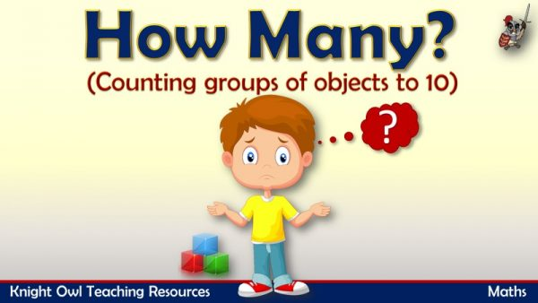 How Many - counting objects to 10 1