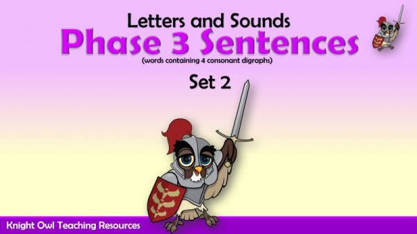 Phase 3 Sentences Set 2 containing 4 consonant digraphs1