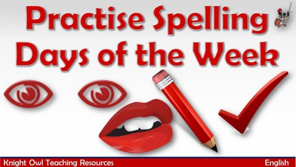 Practise Spelling Days of the Week1