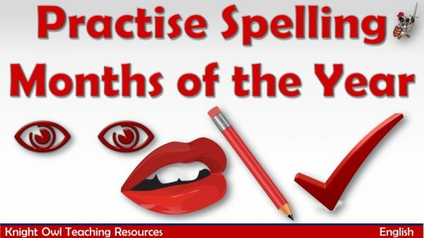 Practise Spelling Months of the Year1