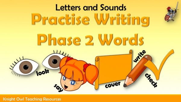 Practise Writing Phase 2 Tricky Words 1