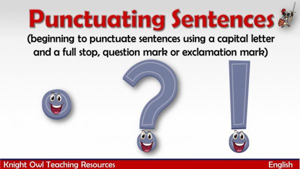 Punctuating Sentences1