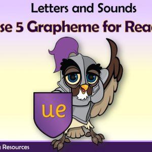 Phase 5 Grapheme - 'ue' words