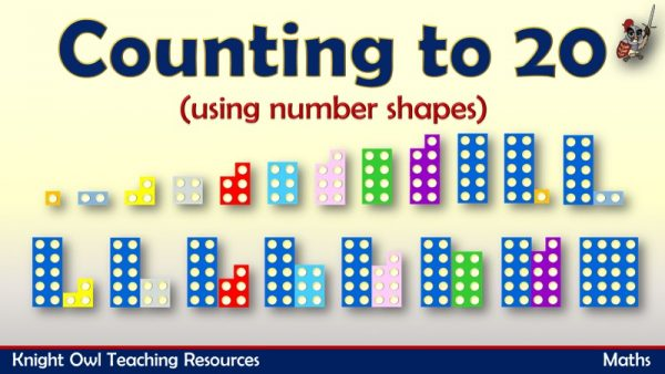 Counting to 20 using number shapes 1