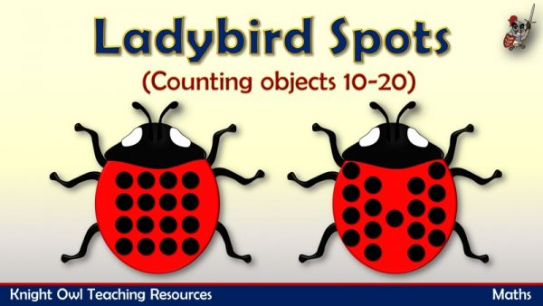Ladybird Spots - counting objects 10-20 1