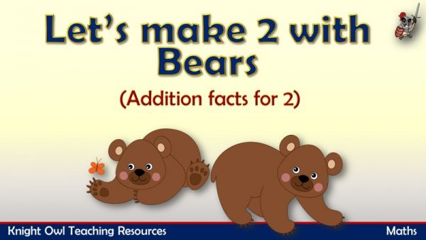 Let's make 2- Addition facts for 2 (bears)1