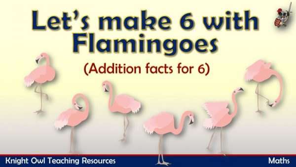 Let's make 6 - Addition facts for 6 (flamingoes)1
