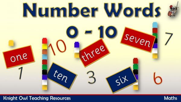 Number Words 0 - 10 1