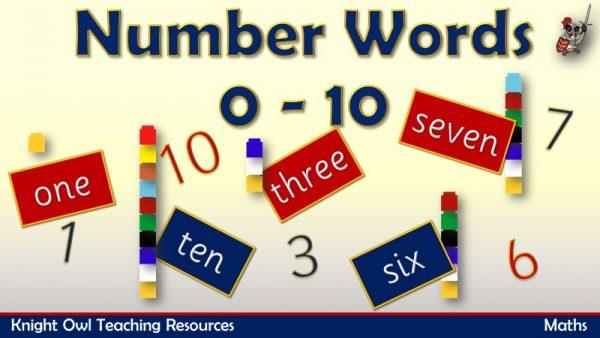 Number Words 0 - 10 1