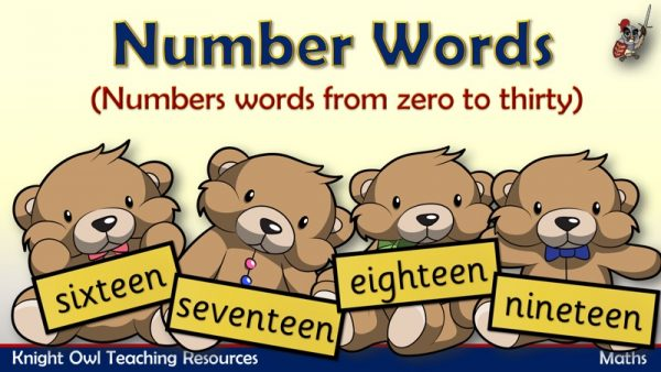 Number Words Bears - zero to thirty 1