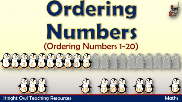 Ordering Number 1-20 (Penguins)1