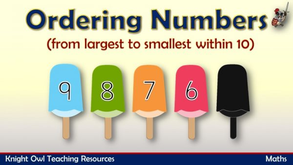 Ordering Numbers from largest to smallest within 10 1