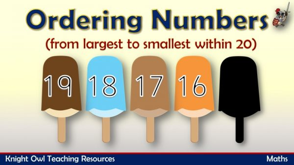Ordering Numbers from largest to smallest within 20 1