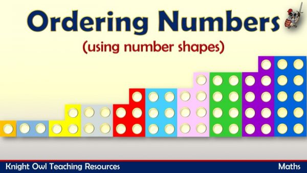 Ordering Numbers using number shapes 1