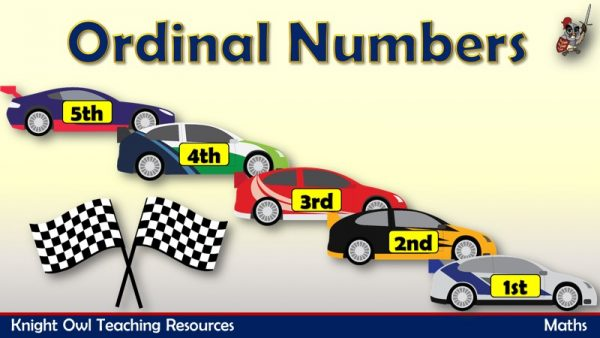 Ordinal Numbers - Cars1