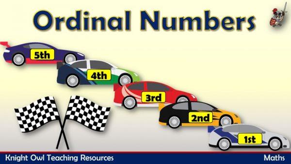 Ordinal Numbers - Cars1