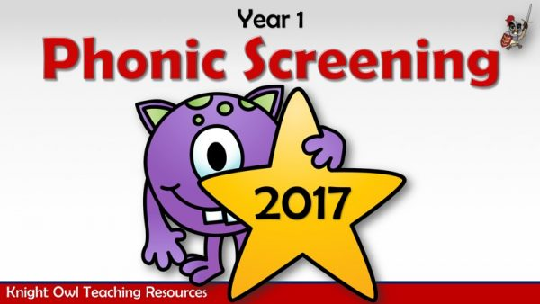 Phonic Screening 2017 1