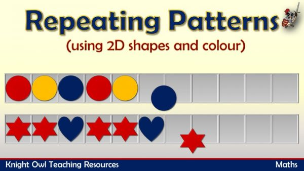 Repeating Patterns - 2D shapes and colour 1