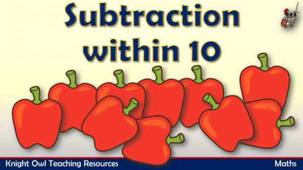Subtraction within 10 (Vegetables)1