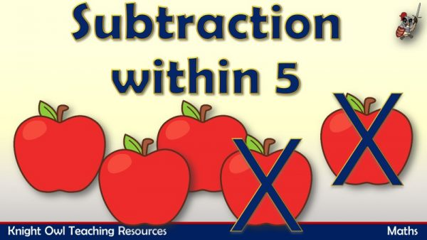 Subtraction within 5 (Fruit)1