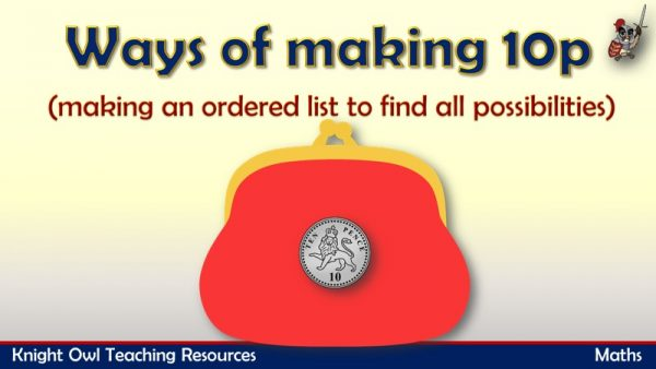 Ways of making 10p (in an ordered way) 1