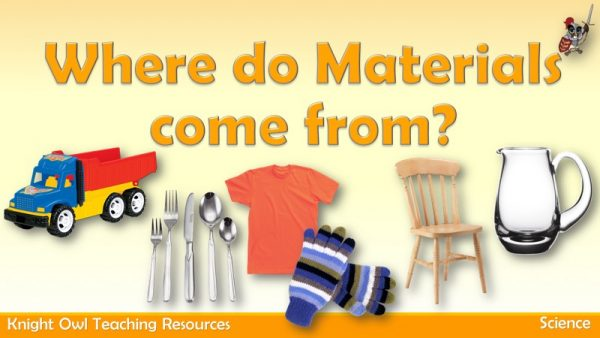 Where do materials come from 1