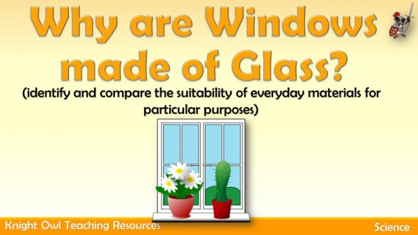 Why are windows made of glass 1