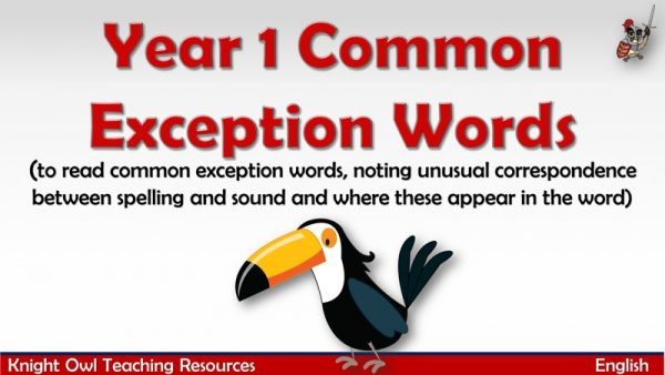 Year 1 Common Exception Words1