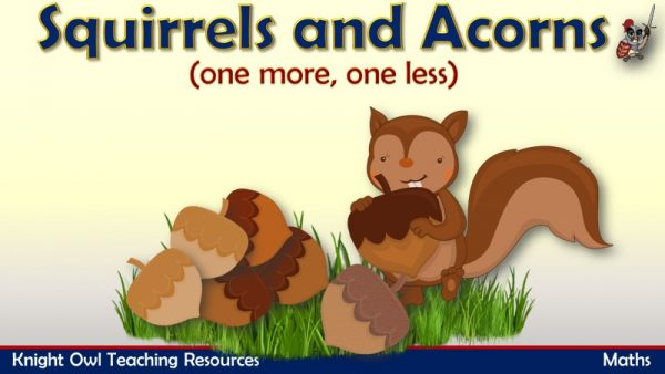 squirrels and acorns (one more, one less to10) 1