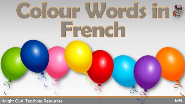 Colour Words in French 1