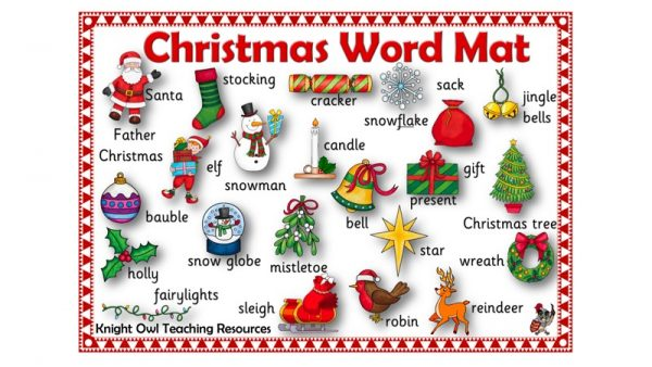 Christmas Word mat