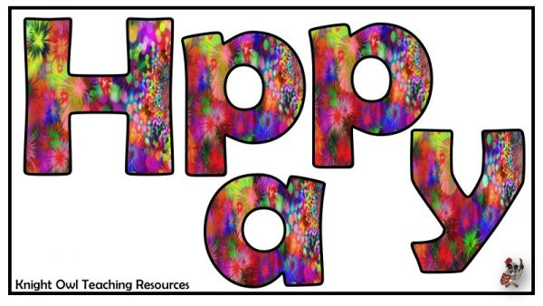 Happy Birthday lettering 1