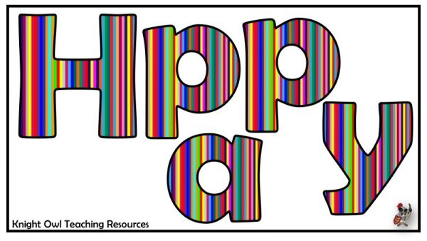 Happy Birthday lettering (stripes) 1