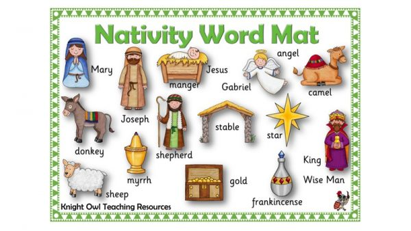 Nativity Word Mat