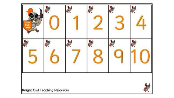 digit cards 1