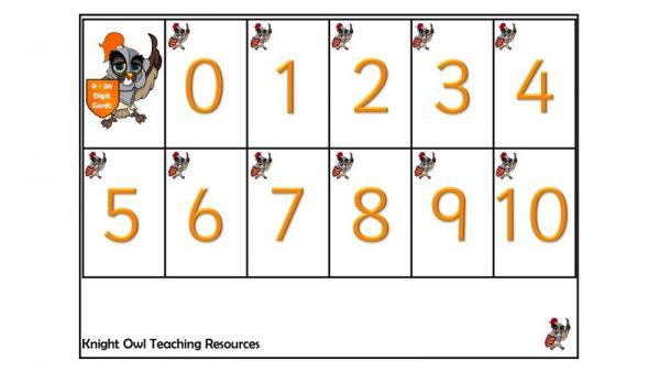digit cards 5