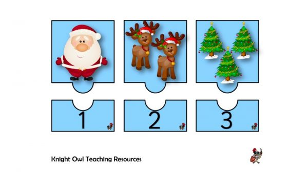 Christmas Jigsaws 1-10 1