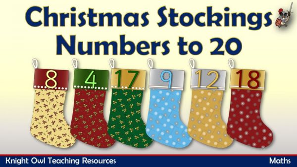 Christmas Stockings Numbers to 20n1