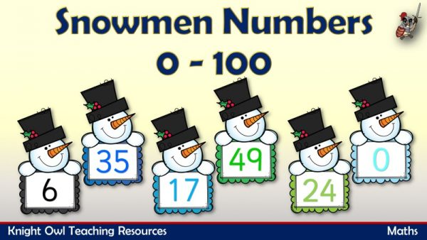 Snowmen Numbers from 0-100 1