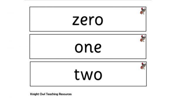 number words fc 1